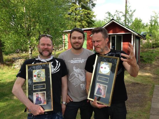 På bilden: Klas Nordlund (manager) Markus Tagaris (Gain) Ralf Gyllenhammar